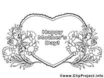 Coeur clip arts – Fête des mères à imprimer