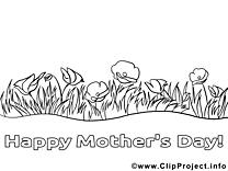 Coloriage fleurs fête des mères image à télécharger