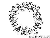 Couronne clip art gratuit – Fête des mères à colorier