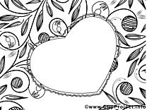 Dessin coeur – Fête des mères gratuits à imprimer