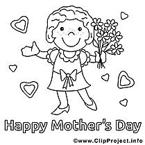 Fleurs images – Fête des mères gratuits à imprimer