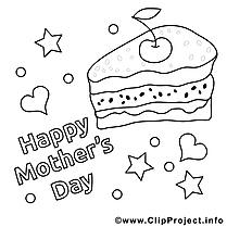 Gâteau image gratuite – Fête des mères à imprimer