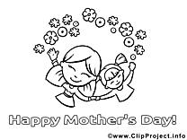 Illustration enfant – Fête des mères à imprimer