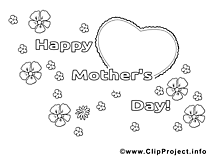 Image carte – Coloriage fête des mères illustration