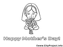 Images fleurs – Fête des mères gratuit à imprimer