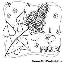 Lilas clip art gratuit – Fête des mères à imprimer