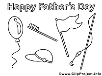 Amusement clip art gratuit – Fête des pères à colorier