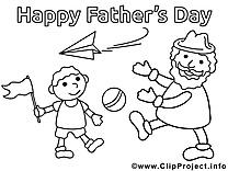 Avion en papier clipart gratuit – Fête des pères à colorier