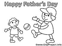 Balle clipart – Fête des pères dessins à colorier