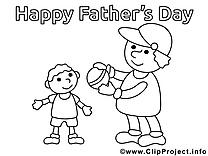Balle image gratuite – Fête des pères à colorier