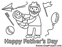Bébé dessin – Coloriage fête des pères à télécharger