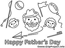 Dessin enfants – Fête des pères gratuits à imprimer