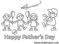 Enfants dessins gratuits – Fête des pères à colorier