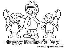 Enfants illustration – Fête des pères à imprimer