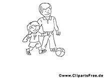 Famille clip arts – Fête des pères à imprimer