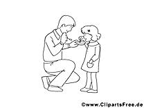 Famille dessin à télécharger – Fête des pères à colorier
