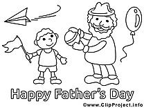 Fils image à télécharger – Fête des pères à colorier