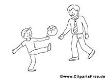 Football clip arts – Fête des pères à imprimer