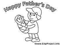 Petit enfant images – Fête des pères gratuits à imprimer