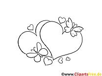 Coeurs dessin – Coloriage fille à télécharger