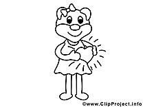 Coloriage fille image à télécharger