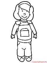 Costume image gratuite – Fille à imprimer