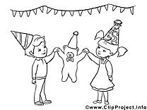Ours en peluche clipart – Fille dessins à colorier