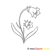 Clochette clip art – Fleurs image à colorier