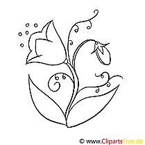 Clochette cliparts gratuis – Fleurs à imprimer