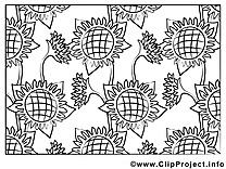Coloriage fleurs image à télécharger