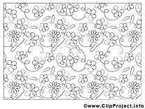 Décoration clip art gratuit – Fleurs à colorier
