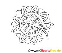 Dessin floraison – Coloriage fleurs à télécharger