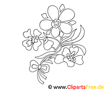 Dessin floraison – Fleurs gratuits à imprimer
