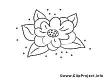 Dessins gratuits fleurs à colorier