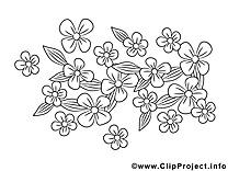 Fleurs à colorier image gratuite