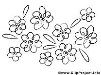 Fleurs dessins gratuits à colorier