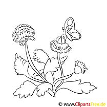Papillon clip art gratuit – Fleurs à imprimer