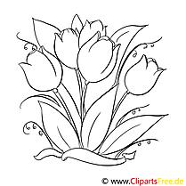 Tulipes images – Fleurs gratuit à imprimer