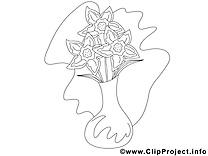 Vasa image à télécharger – Fleurs à colorier