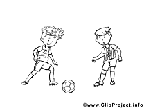 Ballon clipart gratuit – Football à colorier
