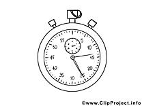 Chronomètre images – Football gratuit à imprimer