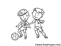 Coloriage football image à télécharger