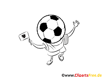 Football Albanie gratuitement à colorier Images