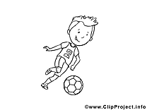 Footballeur image – Football images à colorier