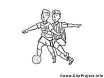 Footballeurs image – Coloriage football illustration