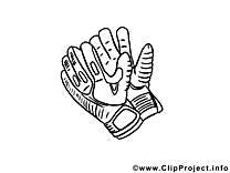 Gants image gratuite – Football à colorier