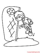 Goal coloriage