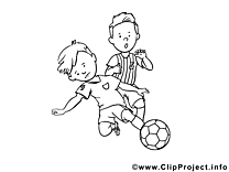 Tacle glissé clip art gratuit – Football à imprimer