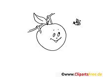 Abeille pomme cliparts gratuis – Fruits à imprimer