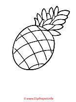 Ananas coloriage